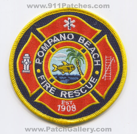 Pompano Beach Fire Rescue Department Patch Florida FL