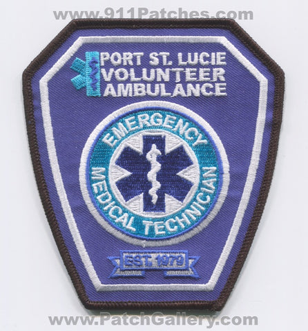 Port Saint Lucie Volunteer Ambulance EMT EMS Patch Florida FL