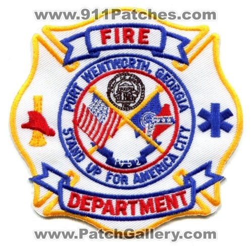 Port Wentworth Fire Department Patch Georgia GA