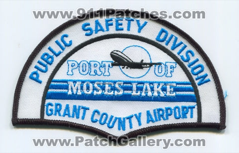Port of Moses Lake Grant County Airport Public Safety Division Patch Washington WA