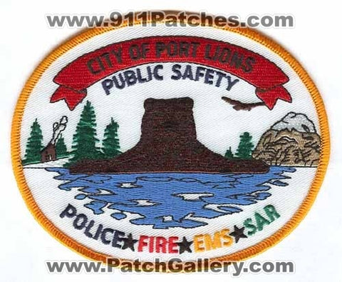 Port Lions Department of Public Safety DPS Police Fire EMS SAR Patch Alaska AK