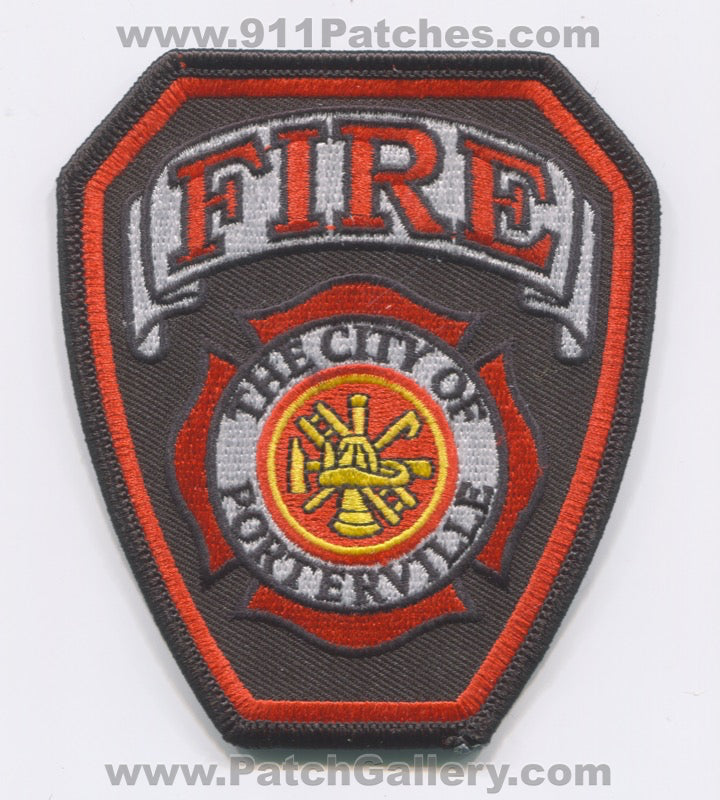 Porterville Fire Department Patch California CA