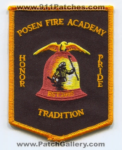 Posen Fire Academy Patch Illinois IL