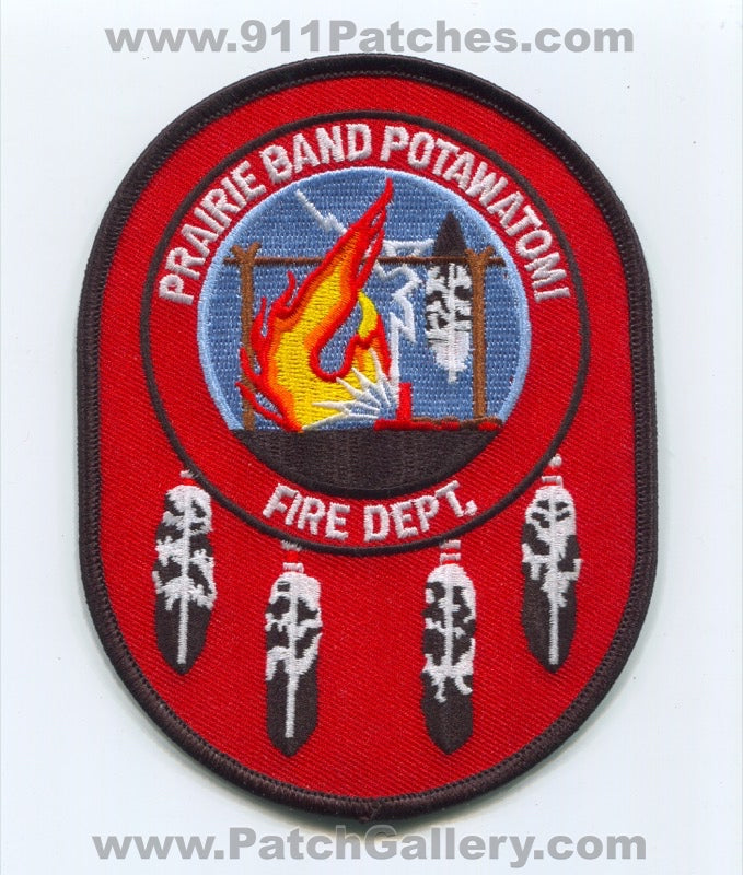 Prairie Band Potawatomi Nation Indian Tribe Fire Department Patch Kansas KS
