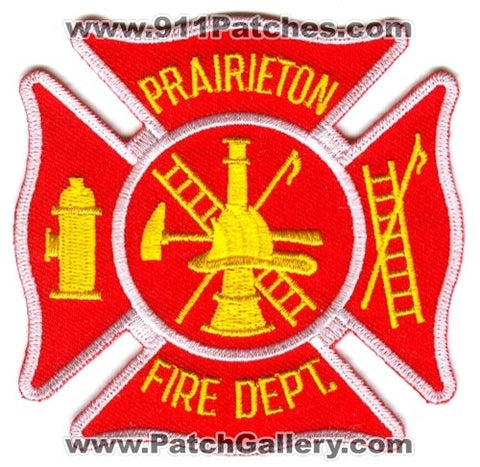 Prairieton Fire Department Patch Indiana IN