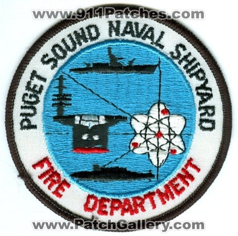 Puget Sound Naval Shipyard Fire Department USN Navy Military Patch Washington WA