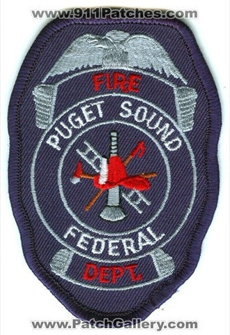 Puget Sound Federal Fire Department Firefighter USN Navy Military Patch Washington WA