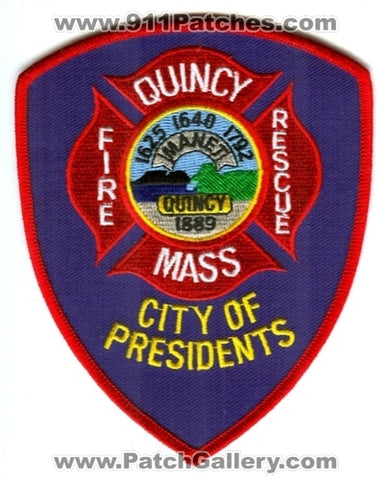 Quincy Fire Rescue Department Patch Massachusetts MA