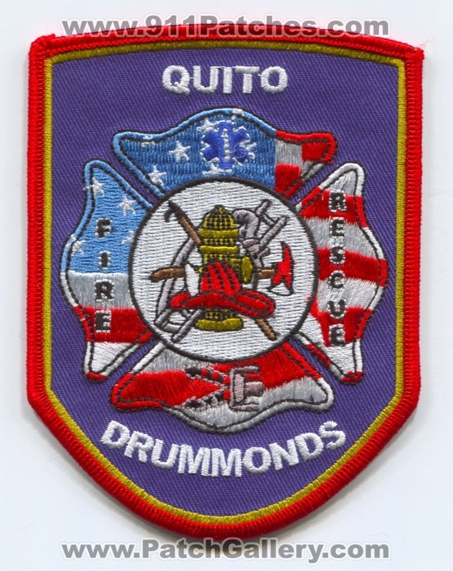 Quito Drummonds Fire Rescue Department Patch Tennessee TN