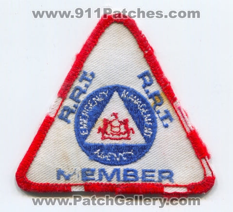 RRT Member Emergency Management Agency EMA Patch Pennsylvania PA