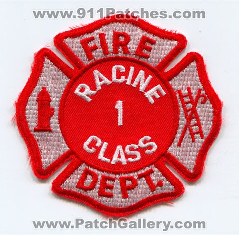 Racine Fire Department Class 1 Patch Wisconsin WI
