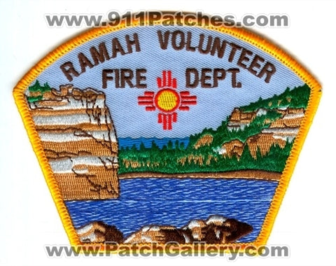 Ramah Volunteer Fire Department Patch New Mexico NM