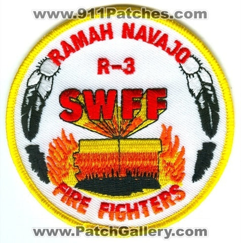 Ramah Navajo Indian Reservation Region 3 Firefighters Forest Fire Patch New Mexico NM