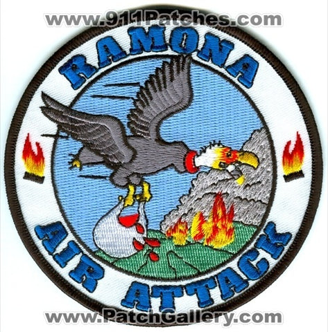 Ramona Air Attack Base Forest Fire Wildfire Wildland Patch California CA