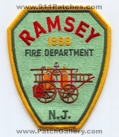Ramsey Fire Department Patch New Jersey NJ