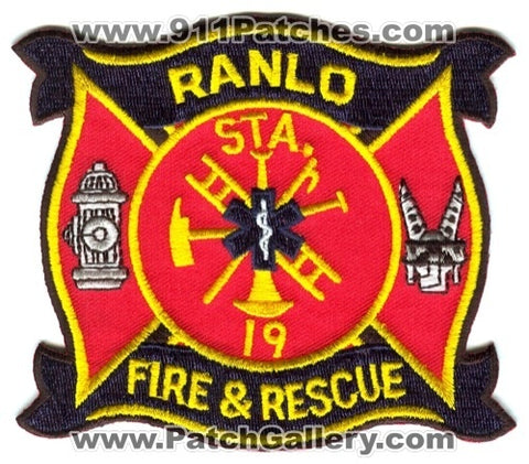 Ranlo Fire and Rescue Department Station 19 Patch North Carolina NC