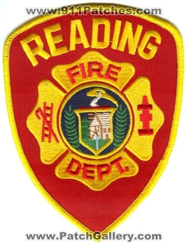 Reading Fire Department Patch Massachusetts MA