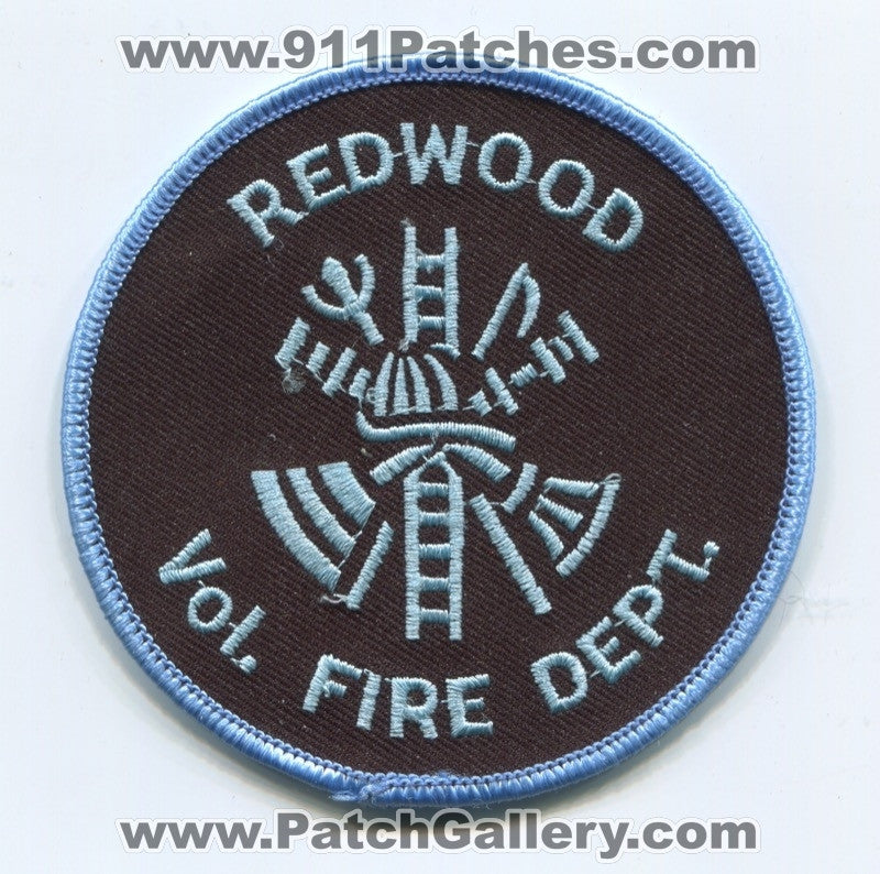 Redwood Volunteer Fire Department Patch Unknown State