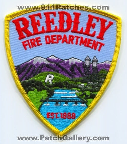 Reedley Fire Department Patch California CA