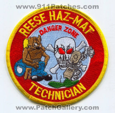 Reese Air Force Base AFB Fire Department Haz-Mat Technician USAF Military Patch Texas TX