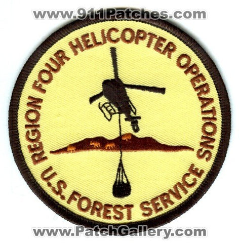 Region Four Helicopter Operations US Forest Service Fire Wildfire Wildland Patch Utah UT