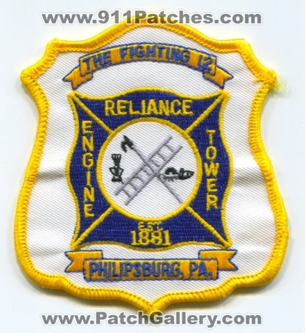 Reliance Fire Company 12 Patch Pennsylvania PA