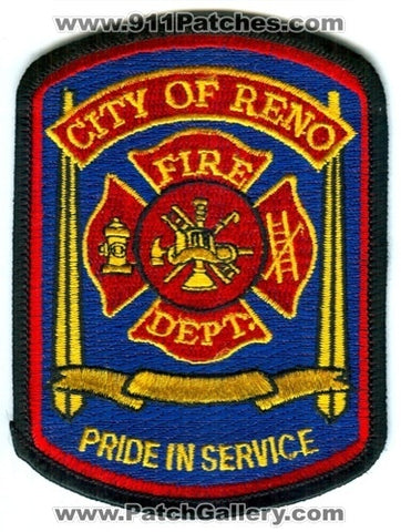 Reno Fire Department Patch Nevada NV