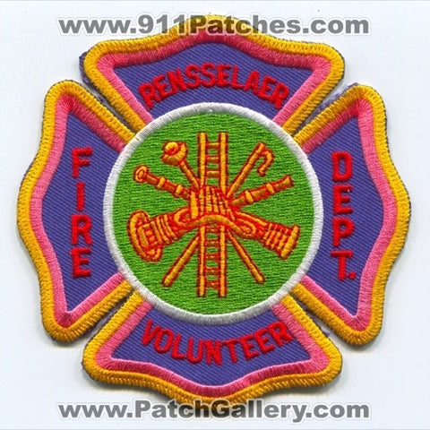 Rensselaer Volunteer Fire Department Patch Indiana IN