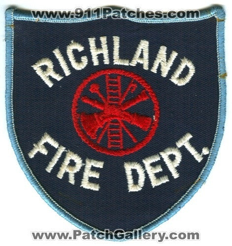 Richland Fire Department Patch Washington WA