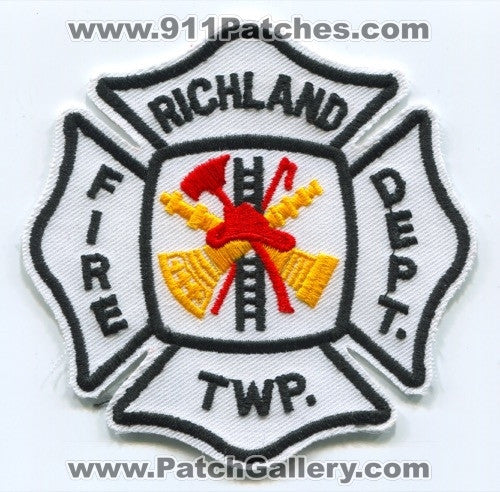 Richland Township Fire Department Patch Unknown State