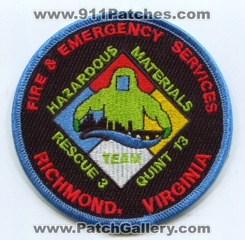 Richmond Fire and Emergency Services Hazardous Materials Team Patch Virginia VA