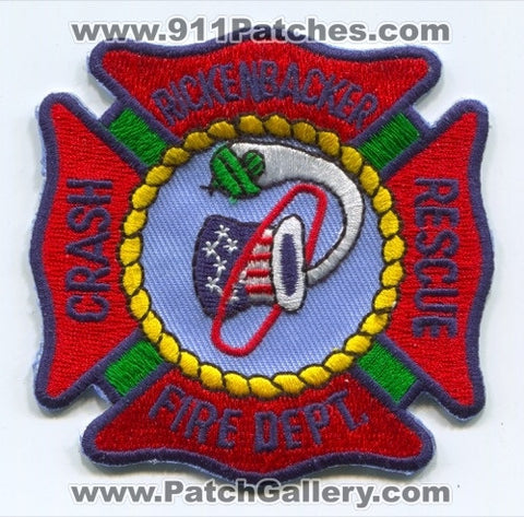 Rickenbacker Air National Guard Base Crash Fire Rescue Department USAF Military Patch Ohio OH