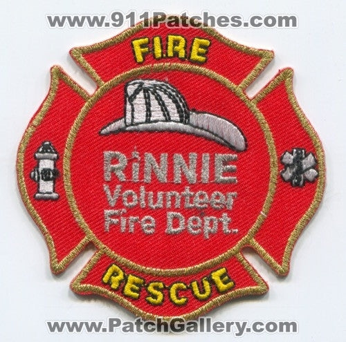 Rinnie Volunteer Fire Rescue Department Patch Tennessee TN
