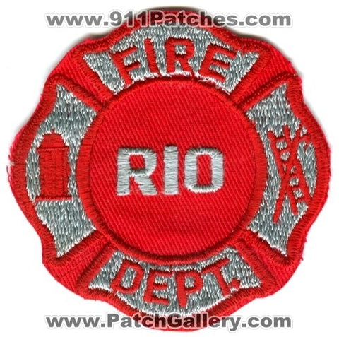 Rio Fire Department Patch Wisconsin WI