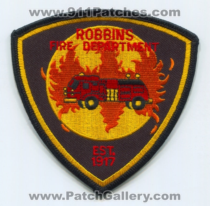 Robbins Fire Department Patch Illinois IL