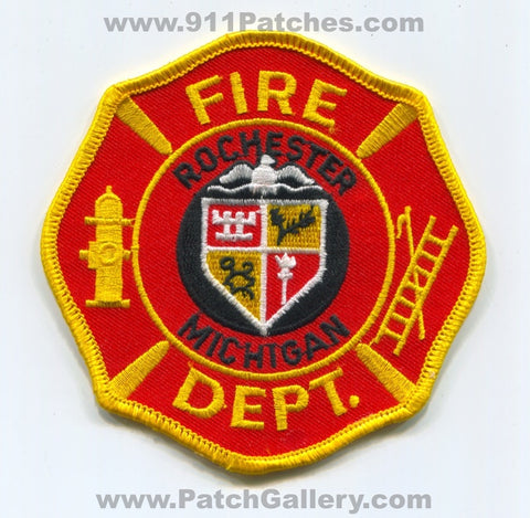 Rochester Fire Department Patch Michigan MI