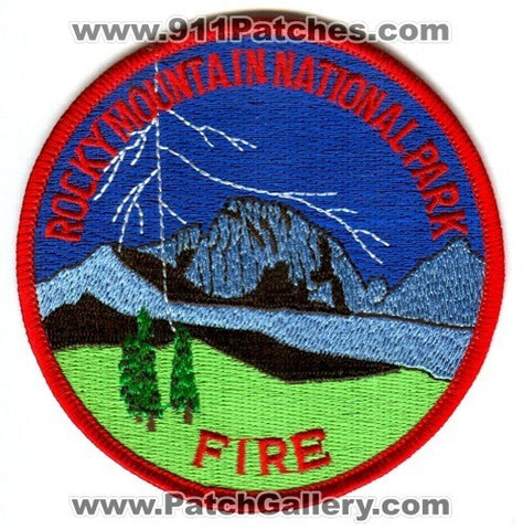 Rocky Mountain National Park Fire Department Wildland Patch Colorado CO