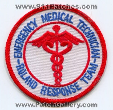 Roland Response Team Emergency Medical Technician EMT EMS Patch Iowa IA