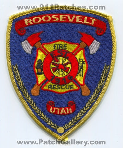Roosevelt Fire Rescue Department Patch Utah UT
