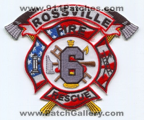 Rossville Fire Rescue Department 6 Patch Tennessee TN