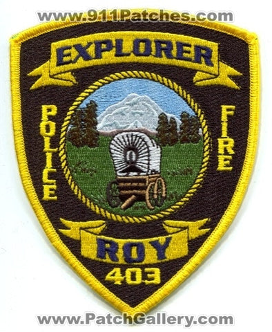 Roy Fire Police Department Explorer Post 403 Patch Washington WA