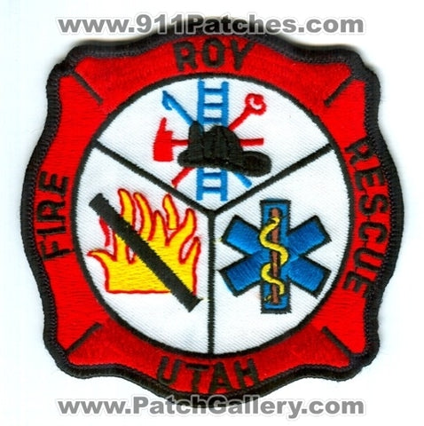 Roy Fire Rescue Department Patch Utah UT