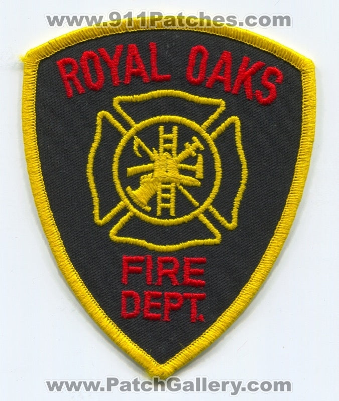 Royal Oaks Fire Department Patch Unknown State