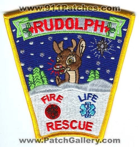 Rudolph Fire Rescue Life Department Patch Wisconsin WI