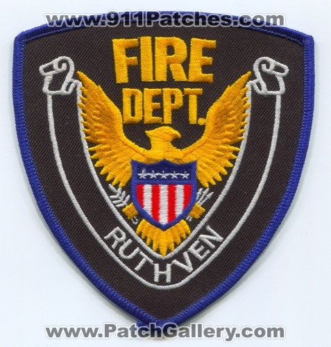 Ruthven Fire Department Patch Iowa IA