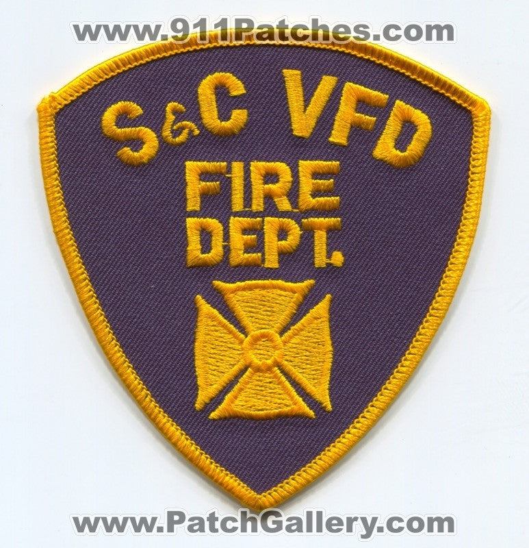 S&C Volunteer Fire Department Patch Unknown State
