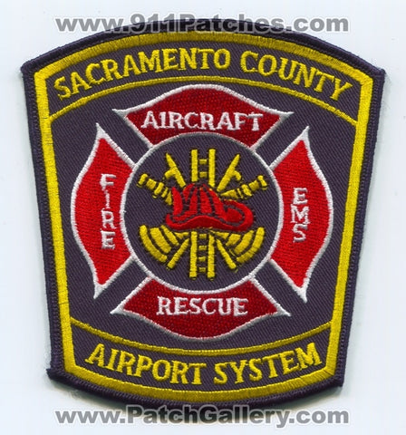 Sacramento County Airport System Aircraft Rescue Fire Department Patch California CA