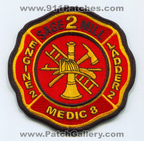 Sage Mill Fire Department Station 2 Patch South Carolina SC