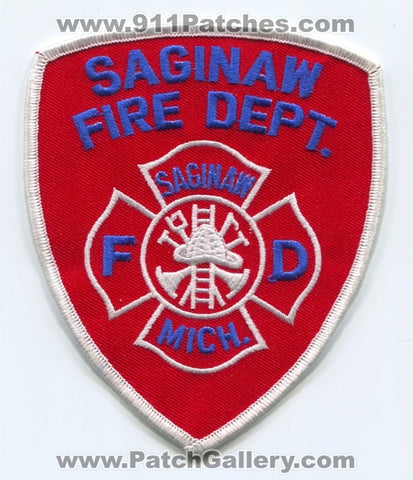 Saginaw Fire Department Patch Michigan MI