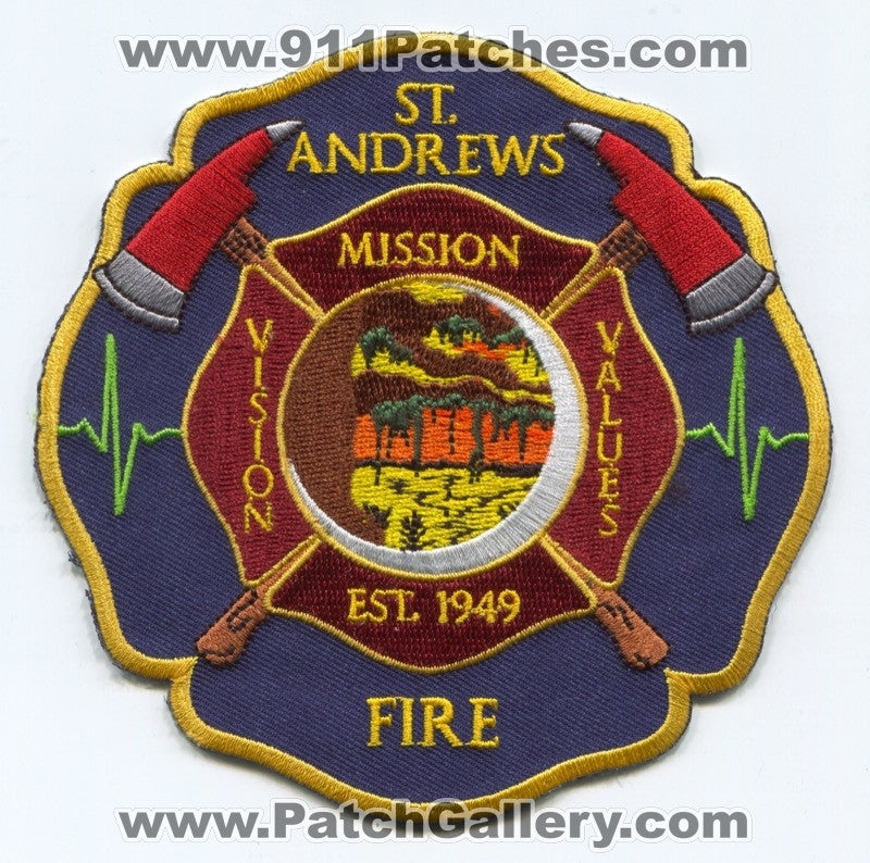 Saint Andrews Fire Department Patch South Carolina SC